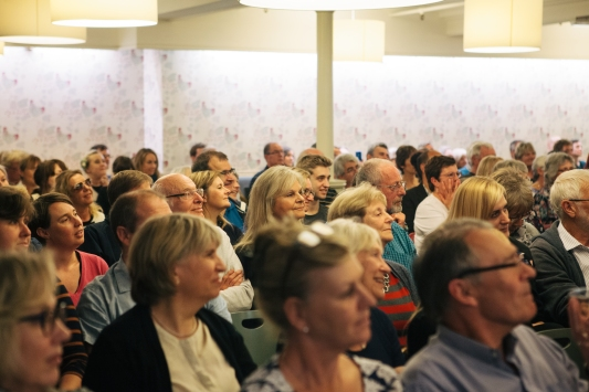 Audience at Lee Child event